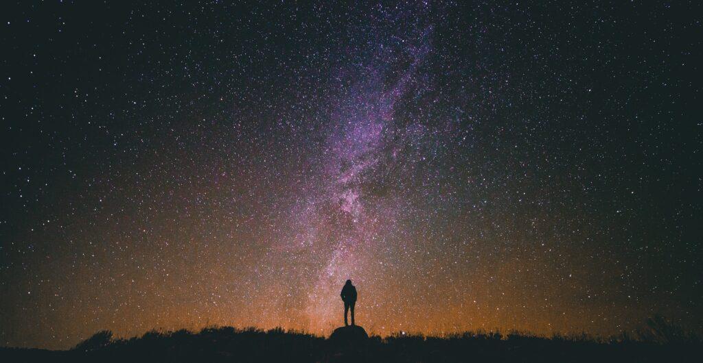 admiring the universe